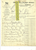 Belgique - GOSSELIES - Facture EMAILLERIE & TÔLERIES REUNIES (ex AUBECQ)  – 1927 - REF 132 - Italie