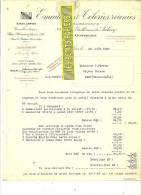 Belgique - GOSSELIES - Facture EMAILLERIE & TÔLERIES REUNIES (ex AUBECQ)  – 1929 - REF 132 - Italie