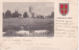 PC Tewkesbury Abbey - Coat Of Arms  - 1905 (9474) - England