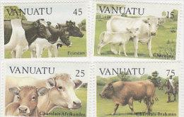 Vanuatu-1984 Cattle 373-376 MNH - Vanuatu (1980-...)