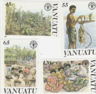 Vanuatu-1988 FAO 489-492 MNH - Vanuatu (1980-...)