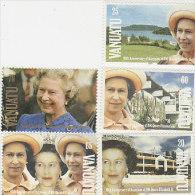 Vanuatu-1992 Queen Elizabeth 40th Anniversary Accession 555-559 MNH - Vanuatu (1980-...)