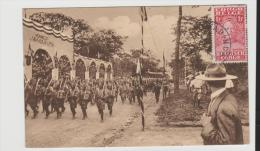 BG049/ Kabinda 1929, Bildkarte, Siegesparade Belgischerr Truppen