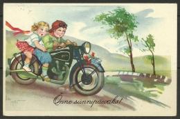"Estland Estonia 1939 Post Card Motorrad  Postage Due Nachgebühr ""T"" - Estland"