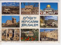 JERUSALEM - Israel - Multi View, Old City, Citadel, ....  Nice Stamp , Large Format - Israel