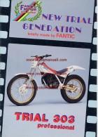 Fantic TRIAL 303 - 125 PROFESSIONAL  1987 Depliant Originale Genuine Brochure Prospekt - Motos