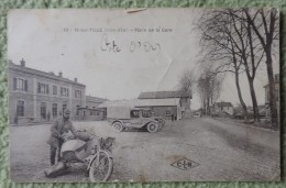 Cpa Dpt 21 - N�33 - Is Sur Tille ( Cote D�Or ) - Place de la Gare - 1920