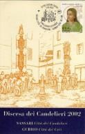 Italia 2002 Sassari Città Dei Candelieri Gubbio Città Dei Ceri Gemellaggio Culturale Rievocazioni Storiche - Andere