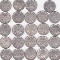 lot de 24 pi�ce de 50ct semeuse argent  avec la 1897 toute les ann�e pi�ce non n�ttoy�