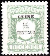GUINÉ- (PORTEADO)-1921,  Tipo De 1904, Com Valor Em Centavos.   1/2 C.   11 1/2   Pap. Liso   *  MH  Afinsa  Nº 29 - Portuguese Guinea