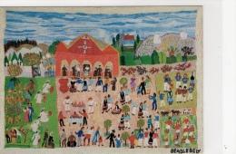ILLUSTRATEUR BRODERIE DE BEADLE-BELY ART NAÏF D'A JAKOVSKY FÊTE À CIMIEZ - Autres Illustrateurs