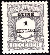 GUINÉ- (PORTEADO)-1921,  Tipo De 1904, Com Valor Em Centavos.   1 C.   11 1/2   Pap. Pont.   *  MH  Afinsa  Nº 30 - Portuguese Guinea