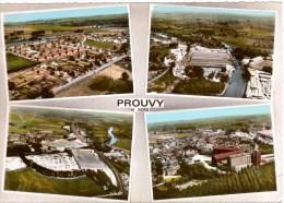 Cpsm PROUVY  Multivues Aériennes , Colorisée , Peu Courante , Dos Vierge - Other Municipalities