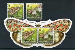 """Pitcairn - Block Nr. 47 Und Mi.Nr. 729 / 730 - """"Schmetterlinge"""" ** / MNH (aus Dem Jahr 2007) - Pitcairn"""