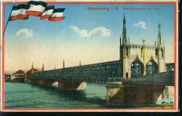 Straßburg Straßbourg Elsaß Alsace Patriotika Eisenbahnbrücke Brücke Le Pont Bei Kehl Rhein 5.3.1943 - Elsass