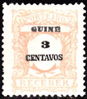 GUINÉ- (PORTEADO)-1921,  Tipo De 1904, Com Valor Em Centavos.   3 C.  11 1/2   Pap. Pont.   *  MH  Afinsa  Nº 32 - Portuguese Guinea