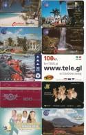 Anguilla, Antigua, Barbados, Dominica, Faroe, Greenland, Iceland, Jamaica, Micronesia, St. Kitts, 10 Good Cards, 2 Scans - Telefoonkaarten