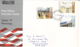 Ulster Paintings  -  3v FDC - 1971-1980 Decimal Issues