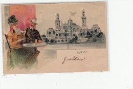 Zurigo, Post Card 1900 Used To Italia - Suède