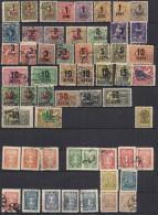 Litauen Lithuania 1922-29,  56 stamps  on plansjee, unused and used