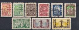 Litauen Lithuania 1934/1935 Definities, Mi 394-399+401-403, , used and unused