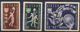 Litauen Lithuania 1939  European basket championship , Mi 429-431,  unused