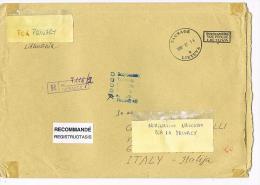 LITUANIA (LITHUANIA)  - STORIA POSTALE - 1998 RACCOMANDATA X ITALIA (TAXE PERCUE)) -RIF.2116