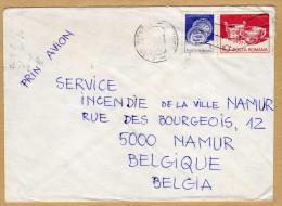 Enveloppe Cover Brief Prin Avion Au Service Incendie De La Ville De Namur - 1948-.... Republiken