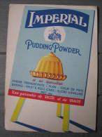 Buvard Imperial Pudding Powder. Cuisine Gastronomie - Buvards, Protège-cahiers Illustrés