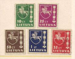 Litauen Lithuania 1937-1939 Arms , Mi 413-416 + 432,  unused and used