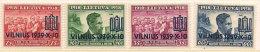 Litauen Lithuania 1939 20 Years anniversary republic, With overprint, Mi 433-436,  unused