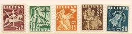 Litauen Lithuania 1940 Peace,, Mi 437-441,  unused