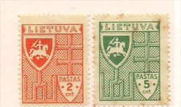 Litauen Lithuania 1936-37 Definities Mi 408-409,  unused