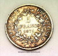 5 Francs 1871A   F334/2   Port Gratuit Pour La France. - J. 5 Francs