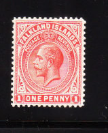 Falkland Islands 1921-29 KG V 1p Mint - Falkland