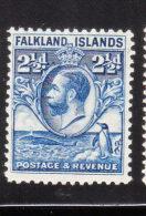 Falkland Islands 1929-31 KG V 2 1/2p Mint - Falkland Islands