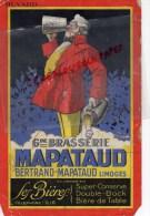 87 - LIMOGES - BUVARD BRASSERIE BERTRAND MAPATAUD - BIERE  BIERES - Food