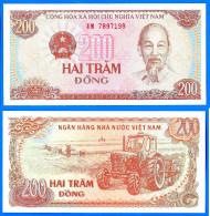 Vietnam 200 Dong 1987 Neuf UNC Tracteur Paysan Uniquement Prix + Port Paypal Skrill Bitcoin Ok - Vietnam