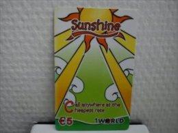 Prepaidcard Belgium Sunshine Used Rare