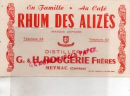 19 - MEYMAC - BUVARD RHUM DES ALIZES - DISTILLERIE G & H ROUGERIE FRERES - Food