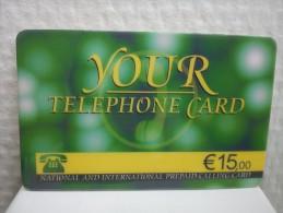 Prepaidcard Belgium Your Telephonecard 15 Euro Used Rare