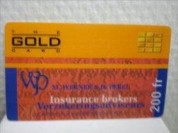 Prepaidcard Belgium The Gold Insuranse Brokers  Used Very  Rare
