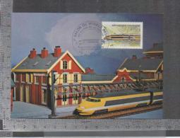 RAME POSTALE TGV  MAUBEUGE 2/2/1985 - Trains