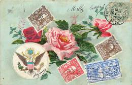 Themes Div-ref H591- Representation Timbres United States  Of America - Amerique - - Timbres (représentations)
