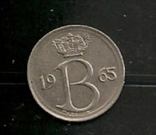 BELGIE BELGIQUE 25 Centimes 1965 NL - 1951-1993: Baudouin I