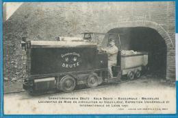 Locomotive De Mine En Ciculation Au Vieux-Liége - Gasmotorenfabrik Deutz - Exposition De Liége 1905 - Mines