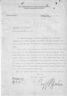 Germania-Lettera Dattiloscritta MAX(Freiherr) Von OPPENHEIM - (15 Luglio 1860 A Colonia - 17 Novembre 1946 A Landshut ) - Autografi