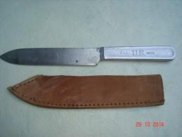 Couteau Américain RIA 1904 Avec Son étui Cuir TTBE WWI - 1914-18