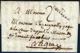 Gers: 31/LECTOURE Sur LAC Non Datée - Marcophilie (Lettres)