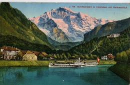 Cp Suisse Switzerland SuizaCP  Schiffeinfahrt In Interlaken Mit Heimwehfluh - BE Berne
